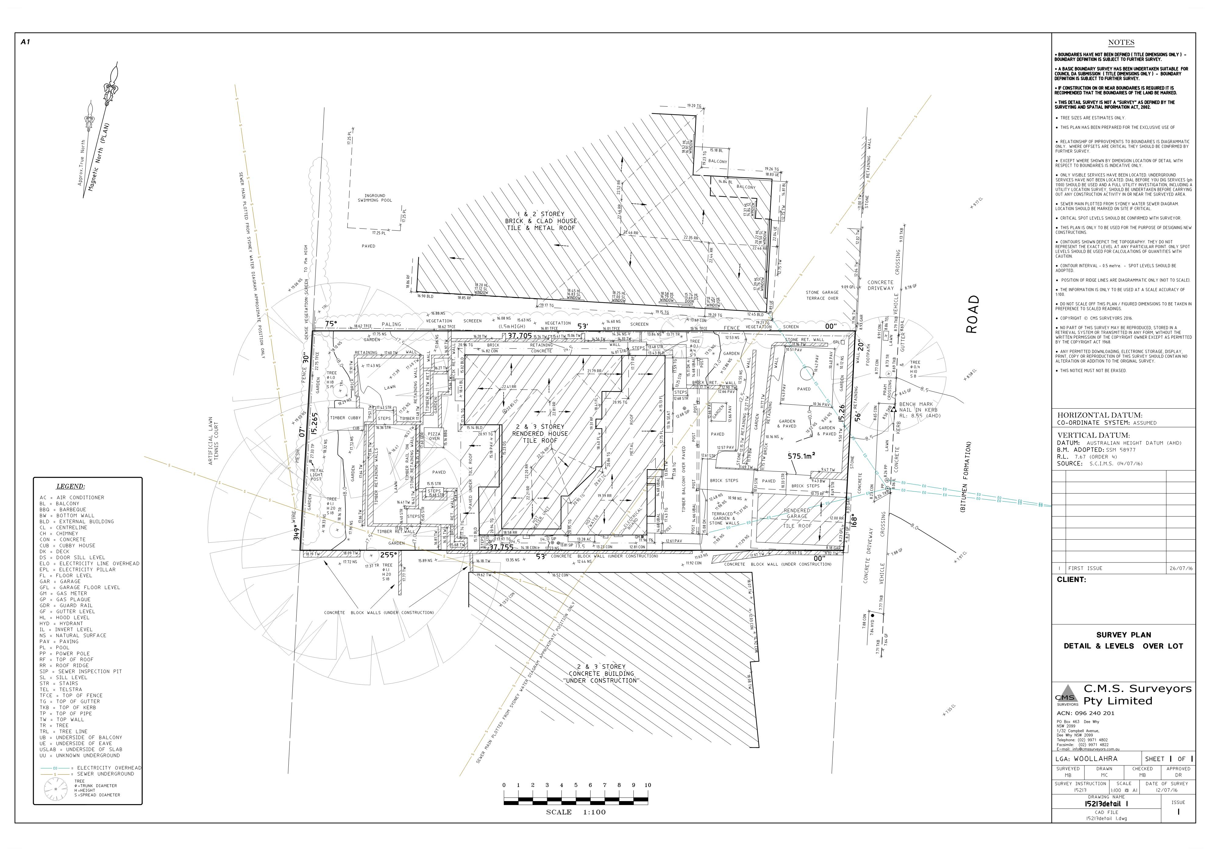 CMS Surveyors Cadastral and Construction Surveyors in Sydney – Site Plan Survey